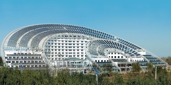 Cao ốc văn phòng sử dụng năng lượng mặt trời tại Trung Quốc